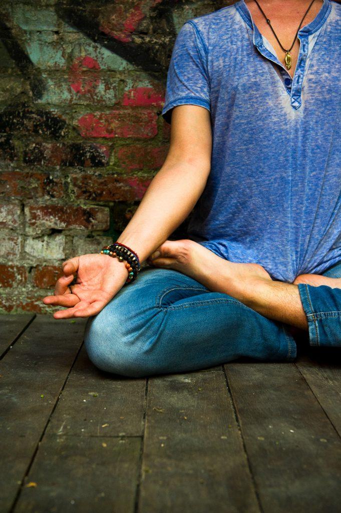 Meditating guy
