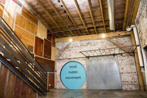 Yoga studio interior