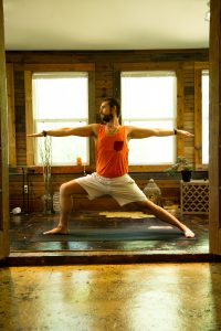 Male yoga teacher