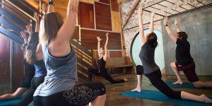 Yoga class vinyasa