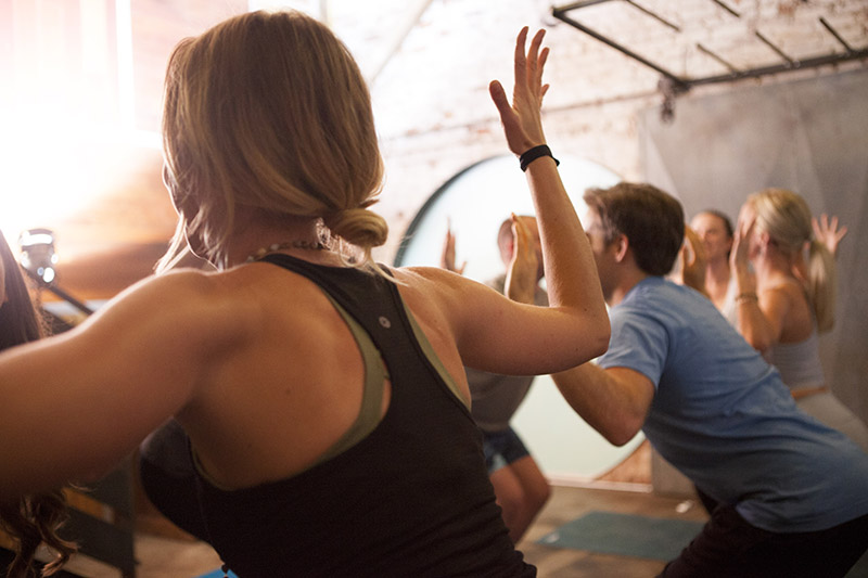 Yoga class back angle