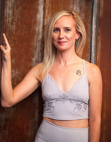 Kelly Rice yoga instructor portrait