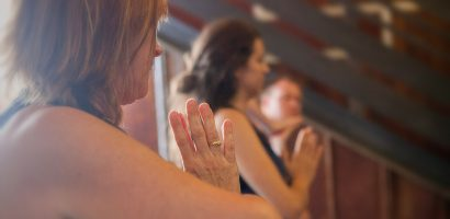 Yoga pranayama hands