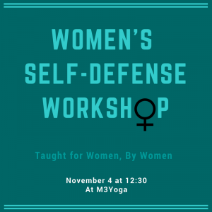 Women's Self-Defense workshop promotional graphic