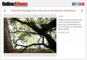 m3yoga flow into fall