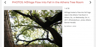 m3yoga flow into fall