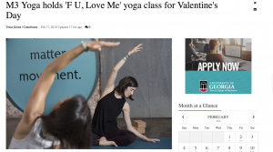 m3yoga red and black F U, Love Me class