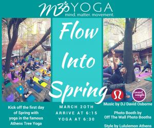 m3yoga flow into spring