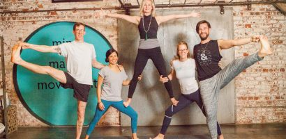 m3yoga instructors fun pose