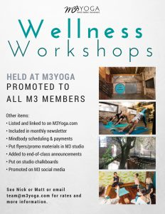 m3yoga wellness workshop