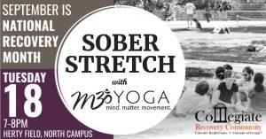 UGA and M3yoga sober stretch