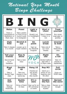 m3yoga bingo card